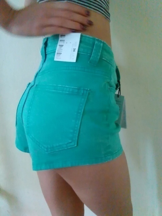 NOWE spodenki jeansowe wysoki stan 34 XS cubus...