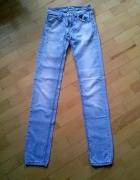 spodnie jasny jeans rurki pull&bear 34XS...