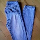 spodnie jasny jeans rurki pull&bear 34XS