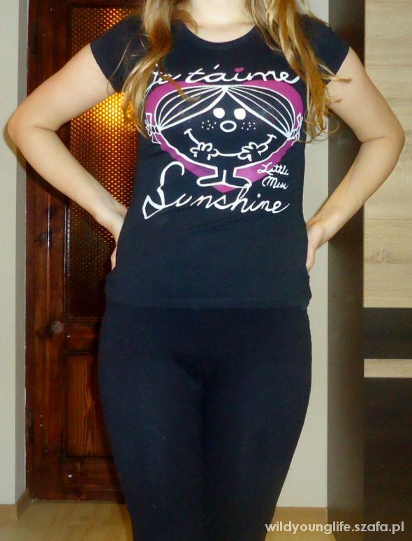 T-shirt czarny t shirt Giamore