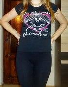 czarny t shirt Giamore...
