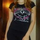 czarny t shirt Giamore