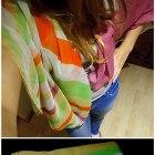 piękna duża wielobarwna chusta