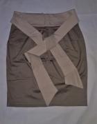 Spódnica khaki z wiązaniem 40...