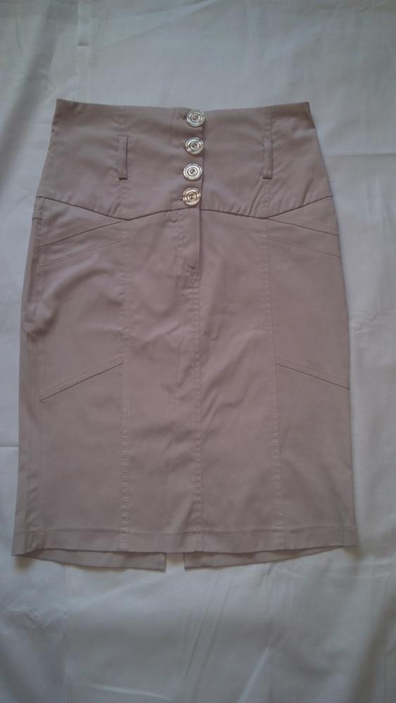 Spódnice spódniczka beżowa wyższy stan 40