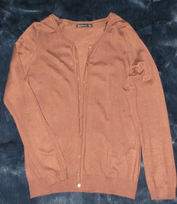 Sweterek brązowo miedziany H&M 38