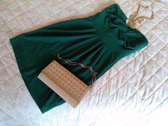 Sukienka VILA jak nowa S 36 zieleń