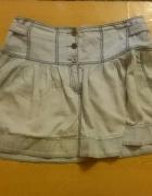 Krótka jeansowa spódniczka...
