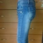 jeansy z przejaśnieniami i przeszyciami