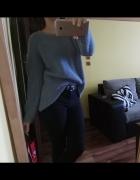 Błękitny sweter Mango S blogerski...