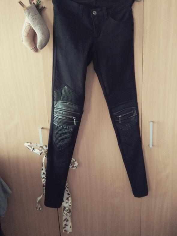 Spodnie Skin jeansy motocyklowe