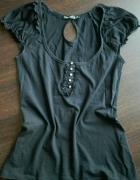czarna bluzka z koronka 38m...