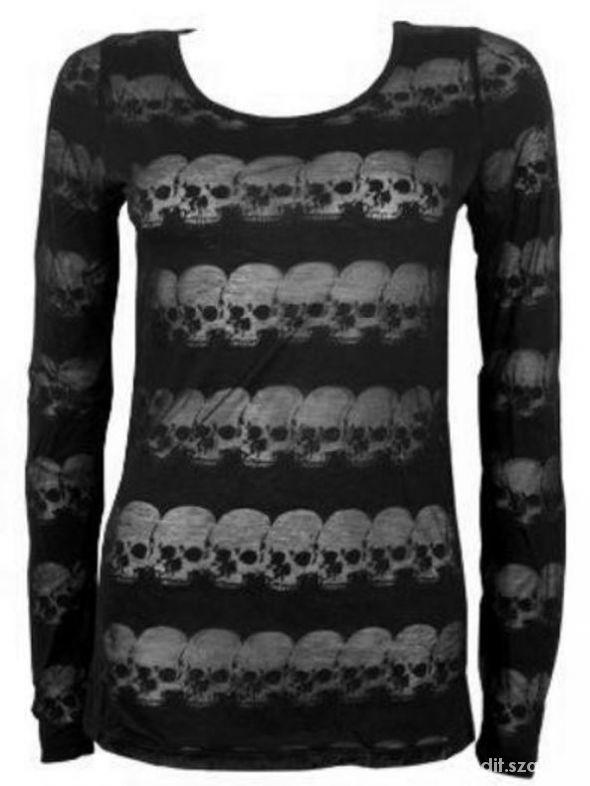Transparentna bluzka w czaszki Queen of Darkness