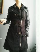 płaszcz czarny trecz rozm Xs