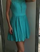 Oasis niebieska sukienka rozkloszowana M L...