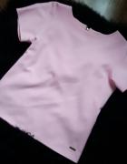 Bluzka pink złoty zip