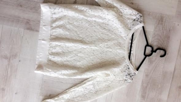 Bluzka koronkowa biała Cropp rozmiar L