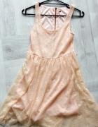 Sukienka letnia koronkowa jasny róż