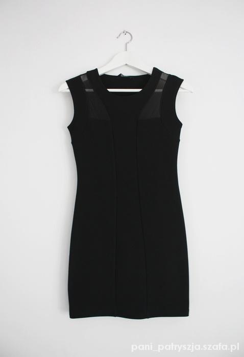 Krótka sukienka mini bodycon mesh petite