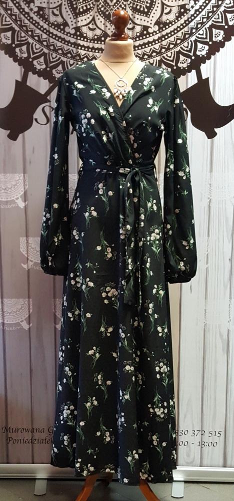 Kwiatowa maxi sukienka
