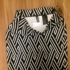 Ołówkowa spódnica xs czarno biała nowa