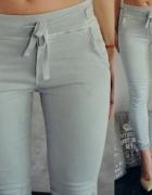 Włoskie szare spodnie dopasowane jeansy hit jak nowe S