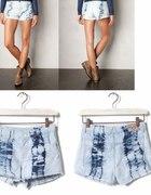 PULL AND BEAR jeansowe szorty spodenki 38 40 acid