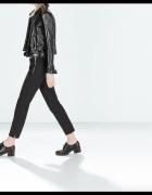 spodnie żakardowe czarne