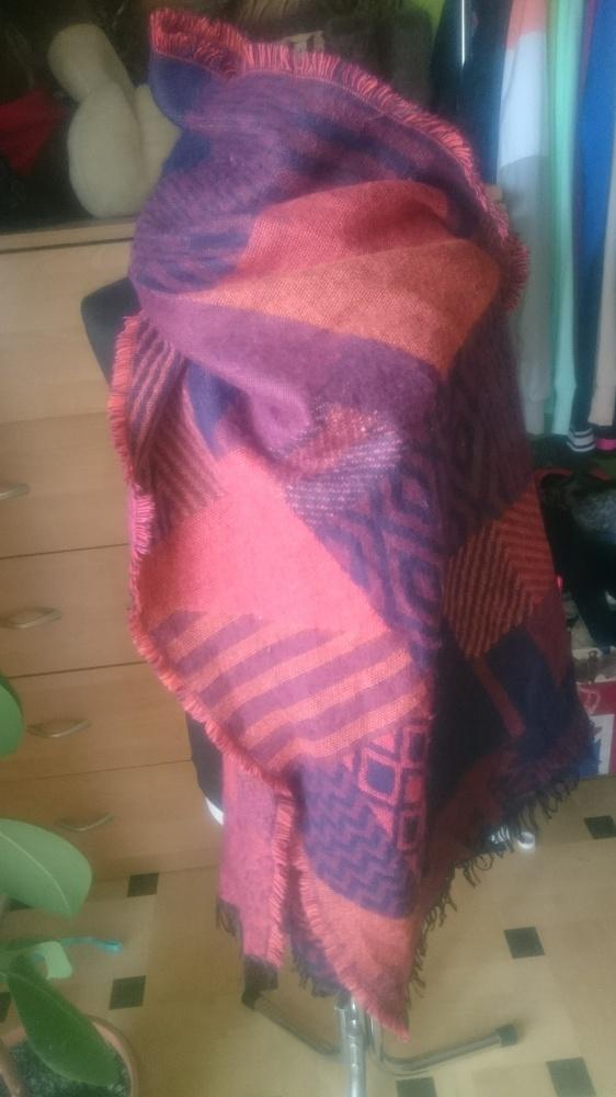 Szaliki i szale piękny długi ciepły szal w jesiennych kolorach