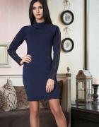 Nowe sukienka z wstawkami z sztuczna skóry Rozm M