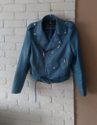 Zara baby blue ramoneska biker