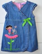 Jeansowa sukienka z Dorą...