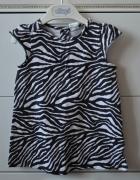 Sukienka tunika z motywem zebry...