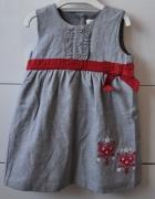 Śliczna szara sukienka...