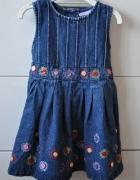 Jeansowa sukienka z guziczkami...