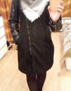 Nowy czarny płaszcz s