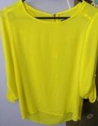 Limonkowa neonowa mgiełka koszula