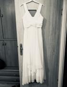 Piękna biała delikatna suknia na ślub cywilny i nie tylko...