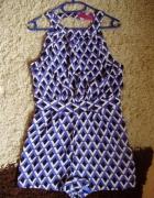 Kombinezon wycięte plecy geometric 40 new fiolet