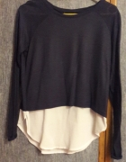 Granatowa bluzka sweterek rozmiar 34 36...