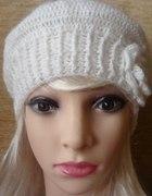 Beret damski kolor biały