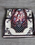Spódnica mini aztec vintage boho retro S 36