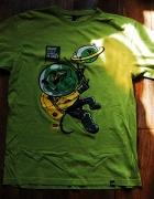Koszulka zielona tshirt z małpą cropp s męska...