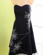 Czarna sukienka na bal imprezę roz 40 L...
