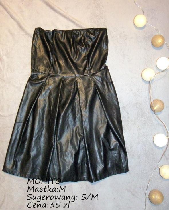 Sukienka MOHITO eko skóra