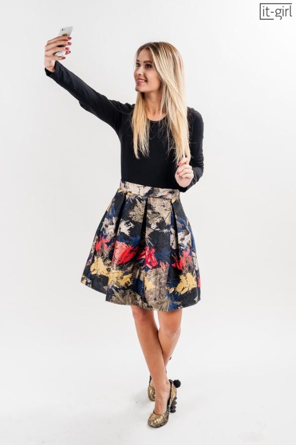 Spódnica spódniczka kolorowa mini imprezowa 36 S