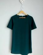 Prosta sukienka butelkowa zieleń...
