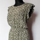 Rozkloszowana sukienka w kwiaty r M