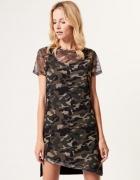 Militarna sukienka z printem...