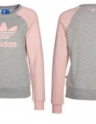 Bluza Adidas szaro różowa xs s...